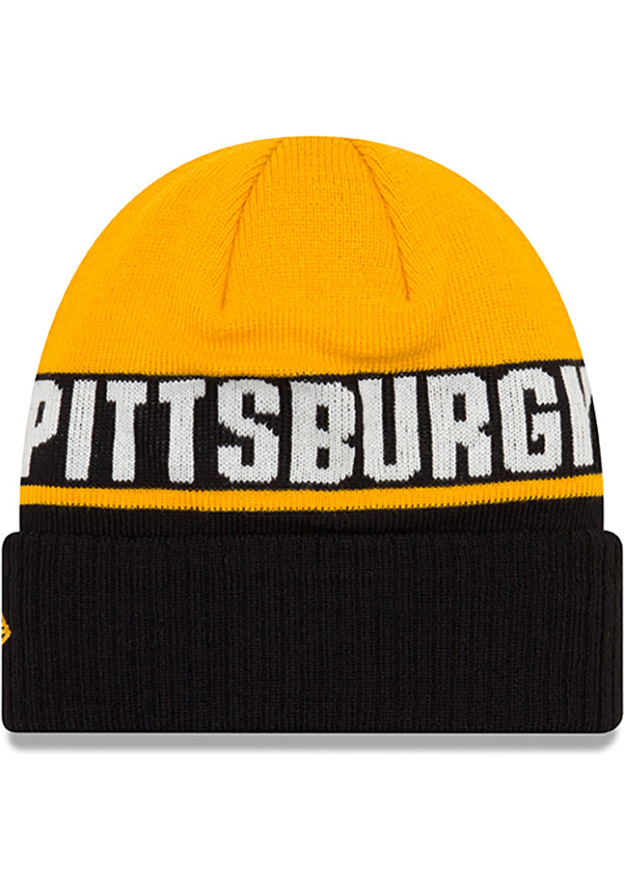 New Era Pittsburgh Steelers Black Chilled Cuff Youth Knit Hat - Image 2