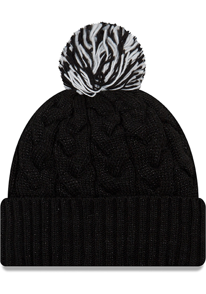 New Era Pittsburgh Steelers Black Cozy Cable Womens Knit Hat - Image 2