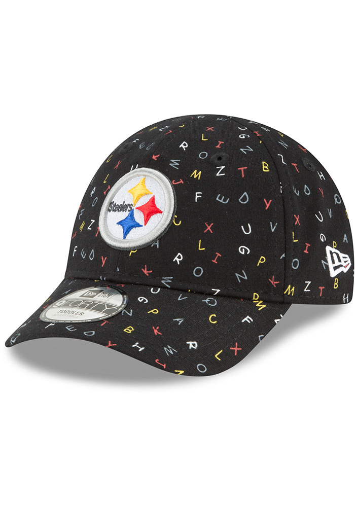 fe53c0028 New Era Pittsburgh Steelers Baby NE Alphabet 9FORTY Adjustable Hat - Black