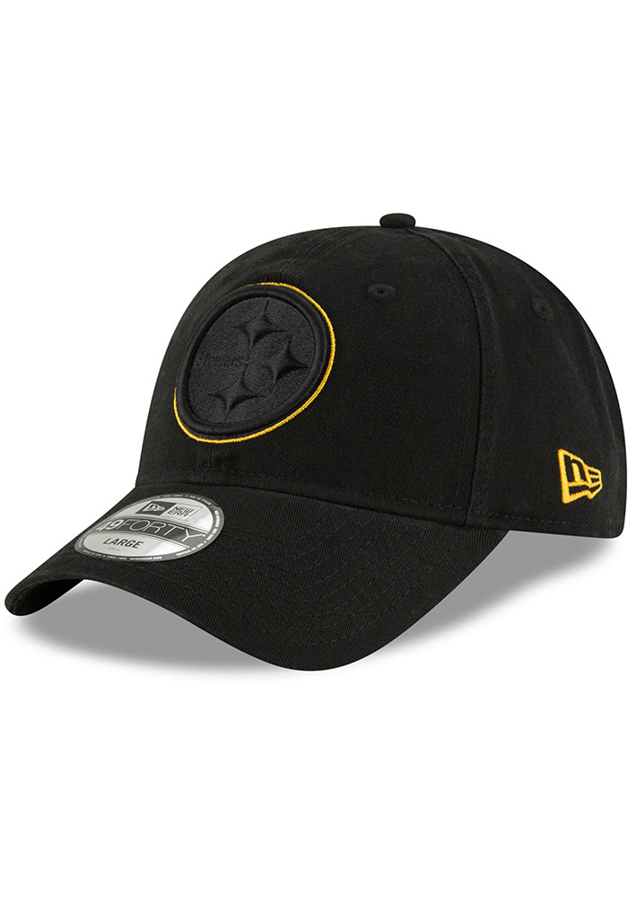 Pittsburgh Steelers New Era Black NE Core Fit Pop 49FORTY Fitted Hat 62e4bb6a294