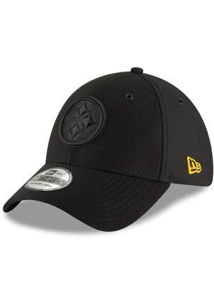 New Era Pittsburgh Steelers Black NFL18 Official Color Rush 39THIRTY Flex  Hat 6581bc68fc3