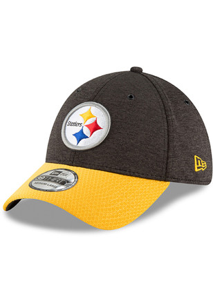 New Era Pittsburgh Steelers Black NFL18 Official Sideline Home 39THIRTY  Flex Hat 6ed0d06fe