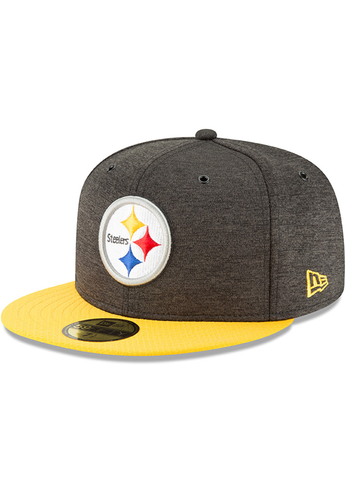 6510ff9655f Pittsburgh Steelers New Era Black NFL18 Official Sideline Home 59FIFTY  Fitted Hat