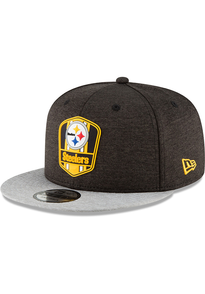 4711a4df8d0 New Era Pittsburgh Steelers Black NFL18 Official Sideline Road 9FIFTY  Snapback Hat