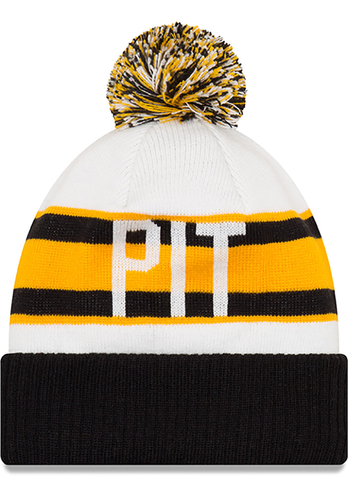 New Era Pittsburgh Steelers Black Retro Cuff Mens Knit Hat - Image 2