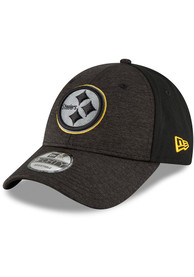 premium selection 30b34 e736c New Era Pittsburgh Steelers Black Shaded Front 9FORTY Adjustable Hat