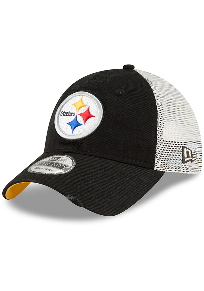 4164aedd7 New Era Pittsburgh Steelers Black Stated Back JR 9TWENTY Youth Adjustable  Hat