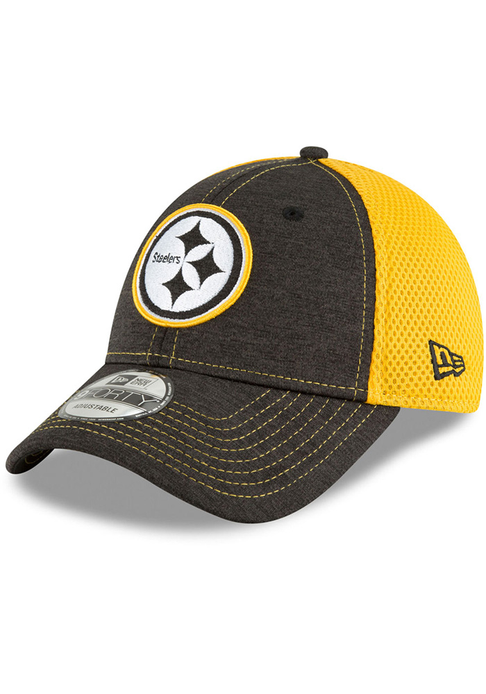 40765eabe New Era Pittsburgh Steelers Black Surge Stitcher Jr 9FORTY Youth Adjustable  Hat
