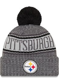333d450d2830a8 New Era Pittsburgh Steelers Grey NFL18 Sport Youth Knit Hat