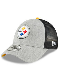 the best attitude 5de52 55563 New Era Pittsburgh Steelers Heathered Turn 9FORTY Adjustable Hat - Grey