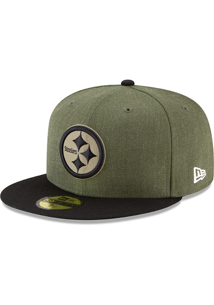 Pittsburgh Steelers New Era Green NFL18 STS 59FIFTY Fitted Hat c4bcd3095