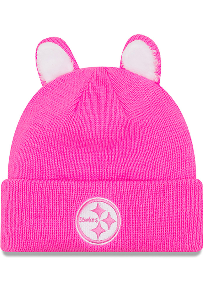 0708c6b467d New Era Pittsburgh Steelers Cozy Cutie Baby Knit Hat - Pink