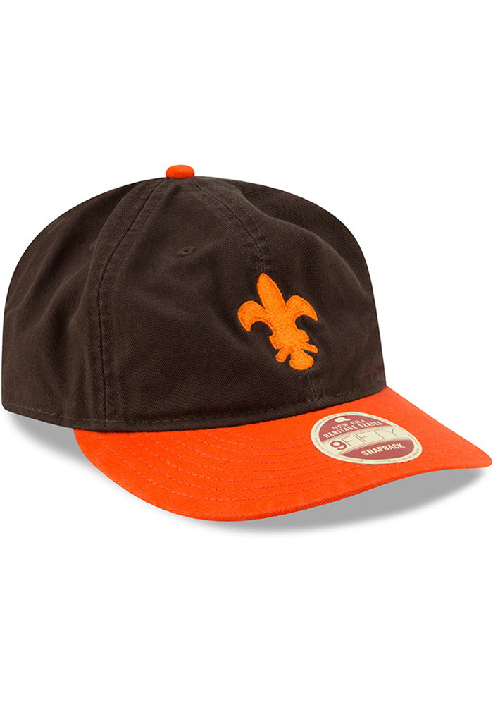 New Era St Louis Browns Brown 2Toned Team Retro 9FIFTY Mens Snapback Hat - Image 2