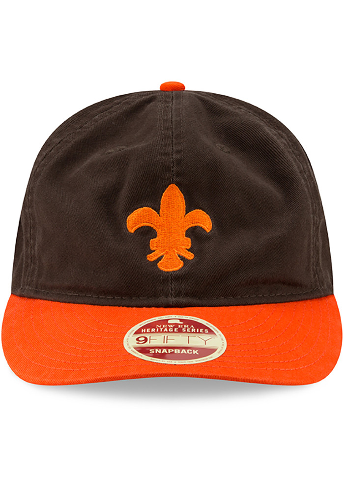 New Era St Louis Browns Brown 2Toned Team Retro 9FIFTY Mens Snapback Hat - Image 3