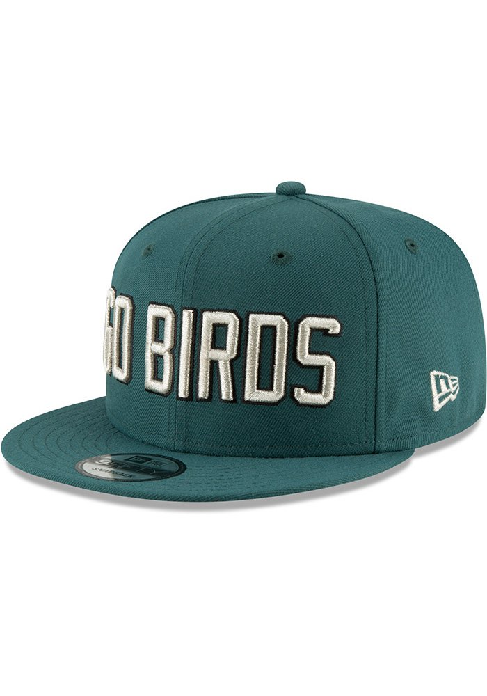 703fb7b633bc1f ... spain new era philadelphia eagles green go birds sb lii champ 9fifty  mens snapback hat image
