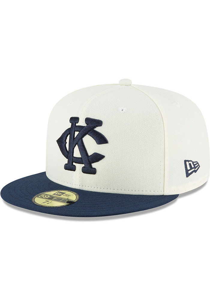 New Era Kansas City Monarchs Mens White 2018 AC 59FIFTY Fitted Hat - Image 1