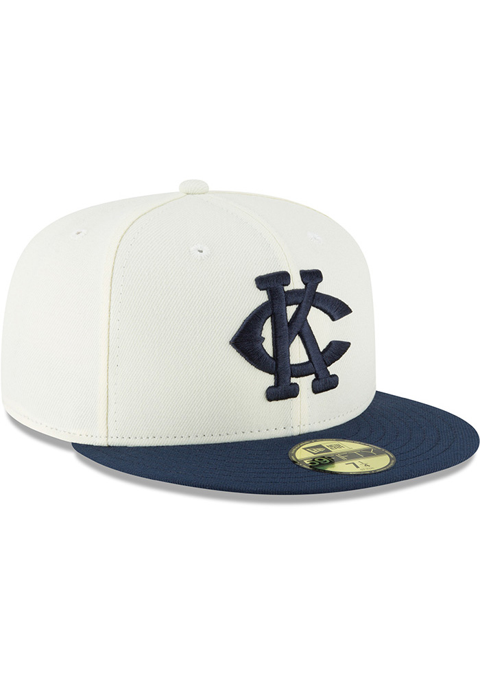 New Era Kansas City Monarchs Mens White 2018 AC 59FIFTY Fitted Hat - Image 2