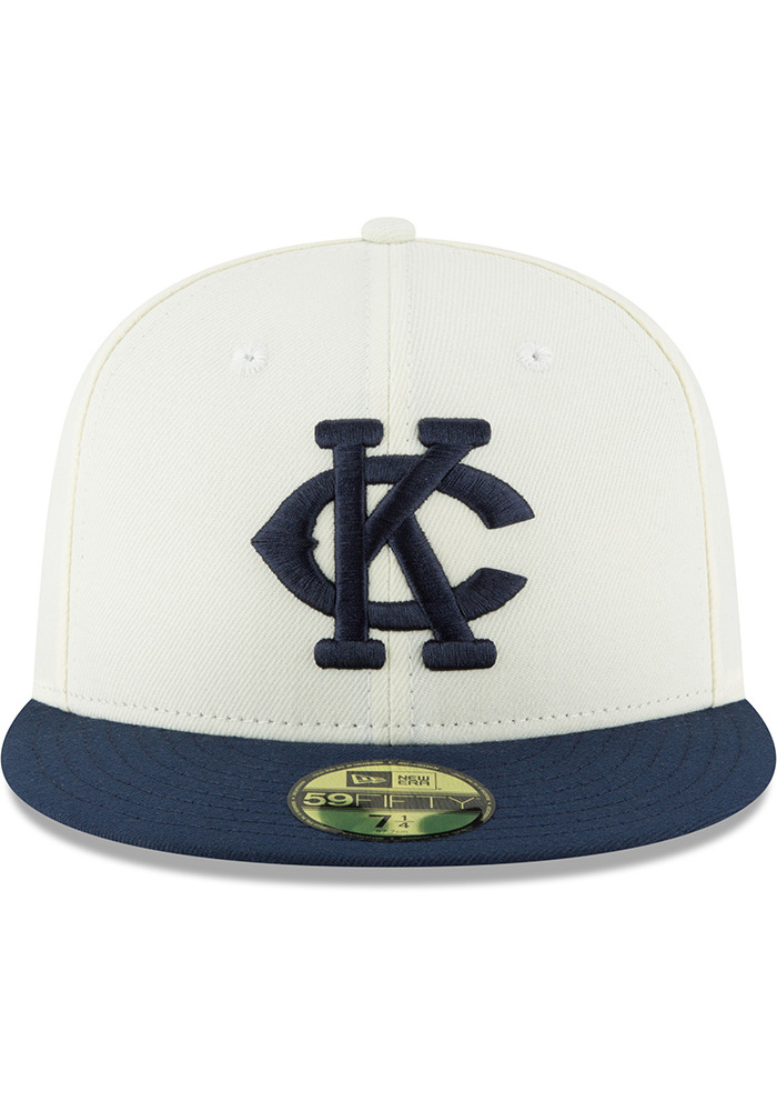 New Era Kansas City Monarchs Mens White 2018 AC 59FIFTY Fitted Hat - Image 3