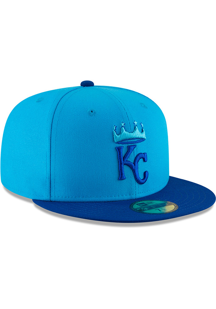 New Era Kansas City Royals Mens Blue 18 Players Weekend 59FIFTY Fitted Hat - Image 2