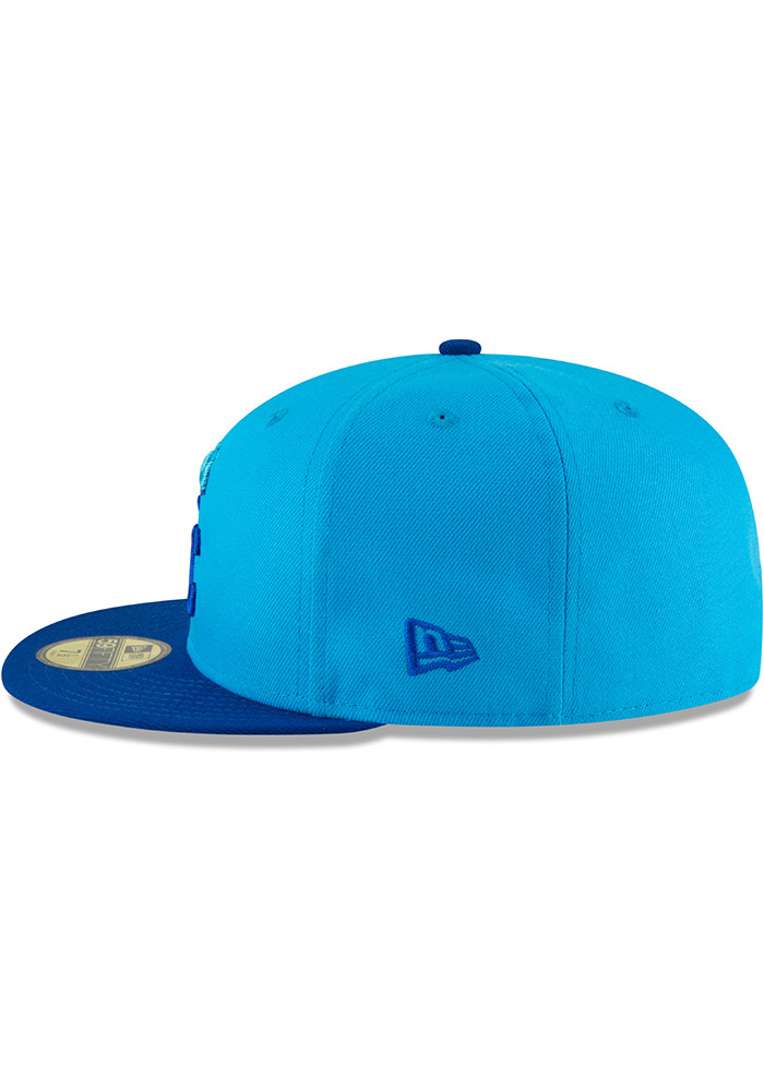 New Era Kansas City Royals Mens Blue 18 Players Weekend 59FIFTY Fitted Hat - Image 4