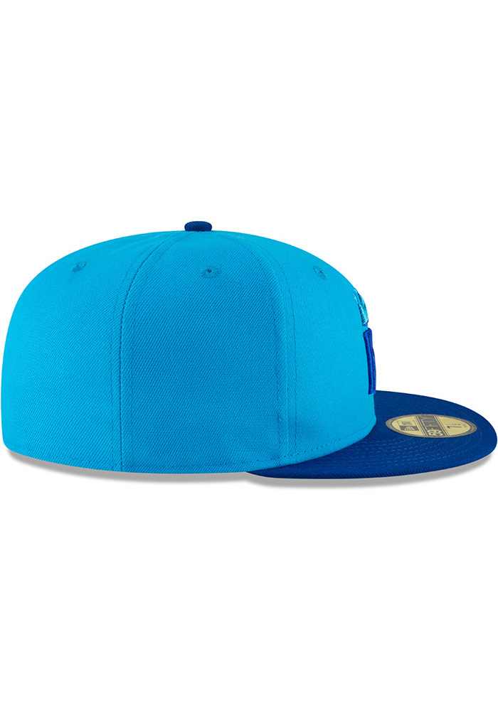 New Era Kansas City Royals Mens Blue 18 Players Weekend 59FIFTY Fitted Hat - Image 6