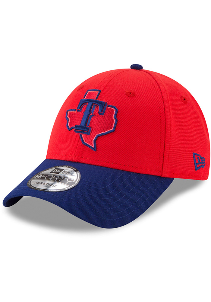 New Era Texas Rangers 18 Players Weekend 9FORTY Adjustable Hat - Red - Image 1