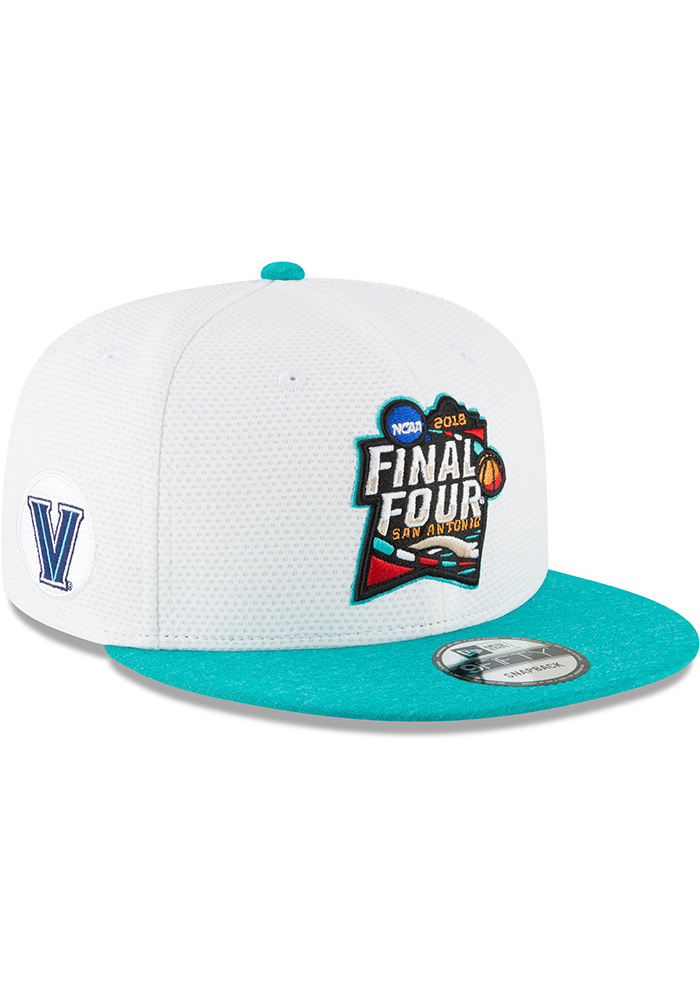 New Era Villanova Wildcats White 2018 F4 9FIFTY Mens Snapback Hat - Image 1