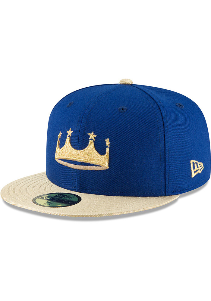 New Era Kansas City Royals Mens Blue Turn Ahead the Clock AC 59FIFTY Fitted Hat - Image 1