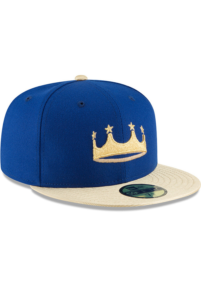 New Era Kansas City Royals Mens Blue Turn Ahead the Clock AC 59FIFTY Fitted Hat - Image 2