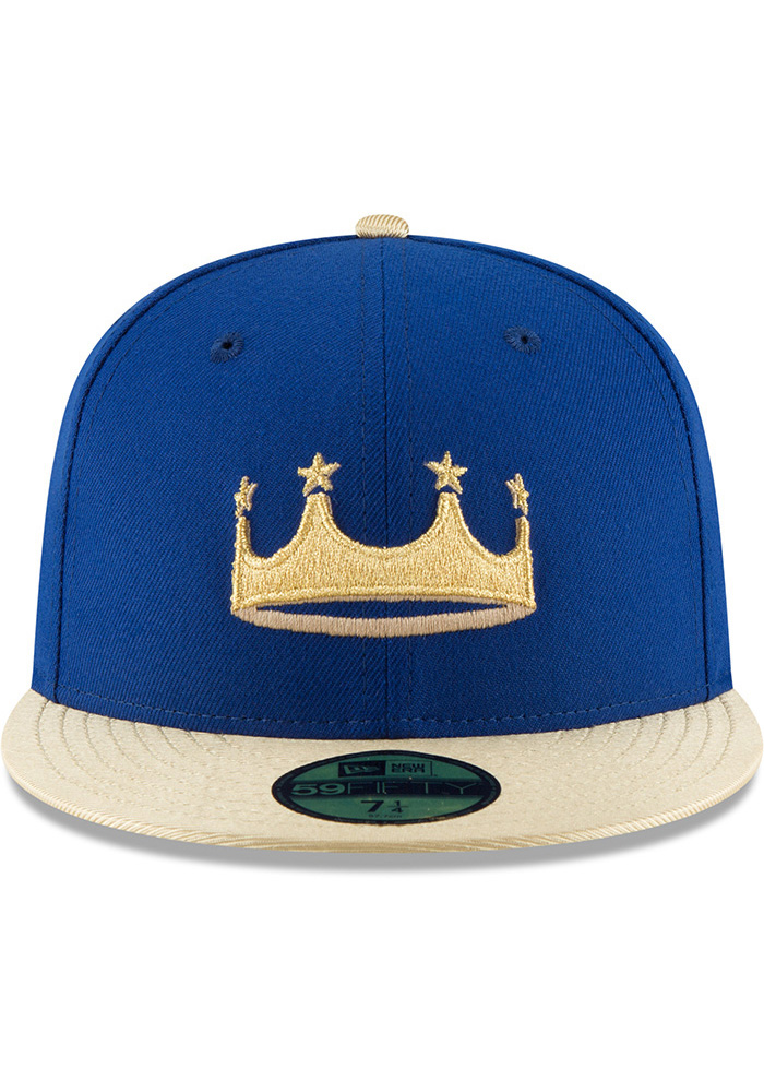 New Era Kansas City Royals Mens Blue Turn Ahead the Clock AC 59FIFTY Fitted Hat - Image 3