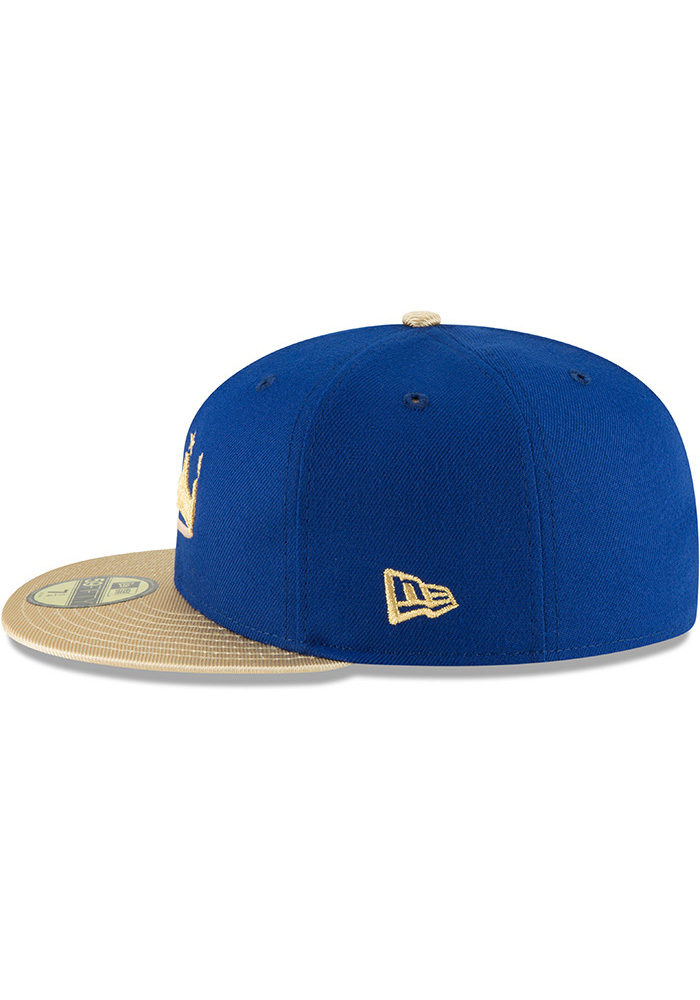 New Era Kansas City Royals Mens Blue Turn Ahead the Clock AC 59FIFTY Fitted Hat - Image 4
