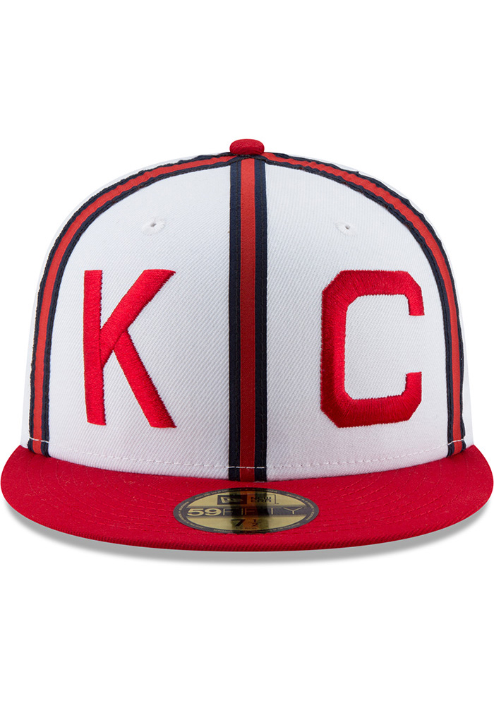 New Era Kansas City Monarchs Mens White Sandlot 59FIFTY Fitted Hat - Image 3