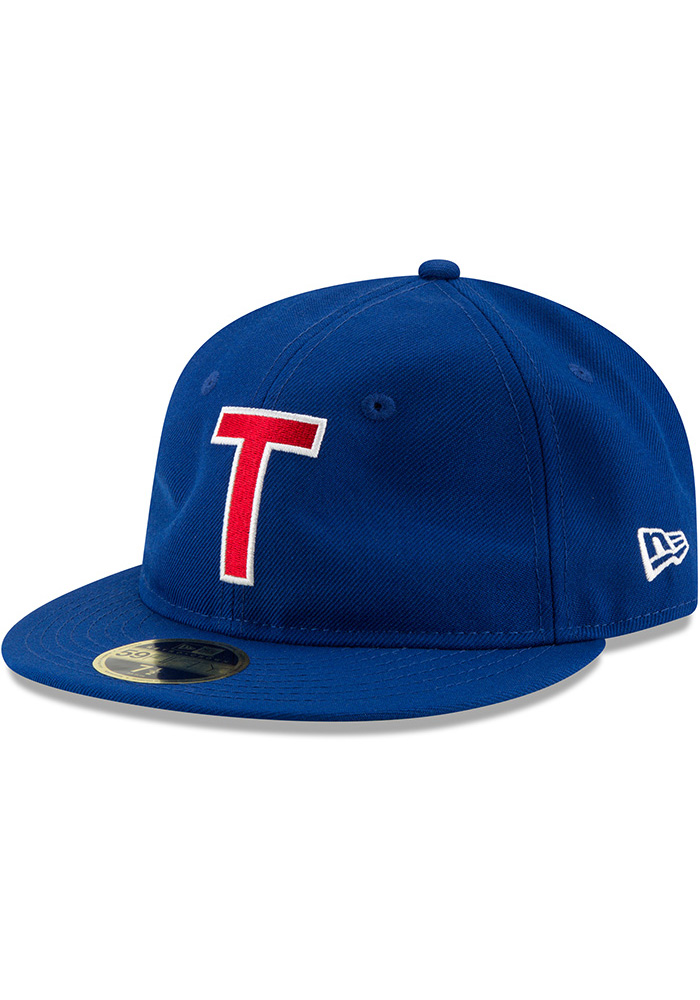 New Era Texas Rangers Mens Blue Sandlot 59FIFTY Fitted Hat - Image 1