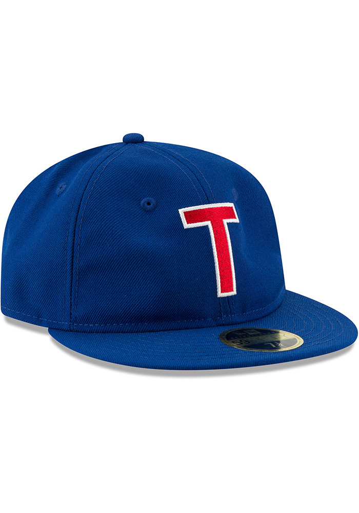 New Era Texas Rangers Mens Blue Sandlot 59FIFTY Fitted Hat - Image 2