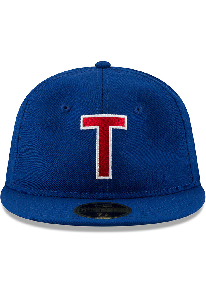 New Era Texas Rangers Mens Blue Sandlot 59FIFTY Fitted Hat - Image 3