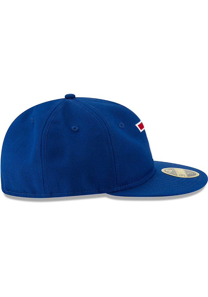 New Era Texas Rangers Mens Blue Sandlot 59FIFTY Fitted Hat - Image 6