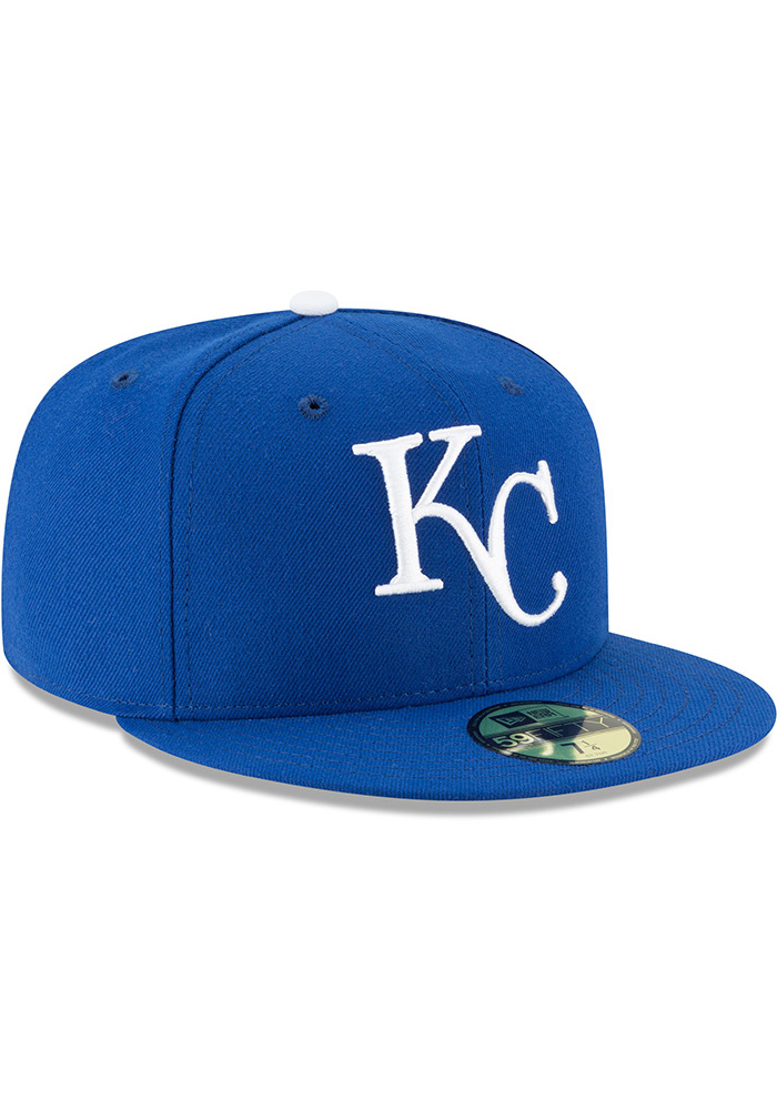 New Era Kansas City Royals Mens Blue 1969 AC 59FIFTY Fitted Hat - Image 2
