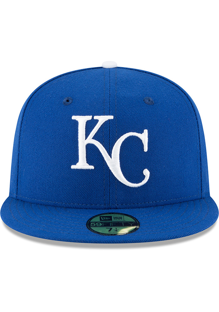 New Era Kansas City Royals Mens Blue 1969 AC 59FIFTY Fitted Hat - Image 3
