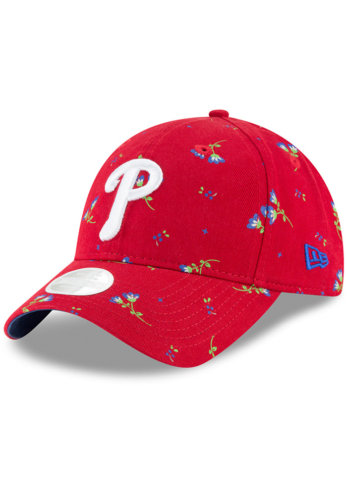 New Era Philadelphia Phillies Blue Blossom LS 9TWENTY Womens Adjustable Hat - Image 1