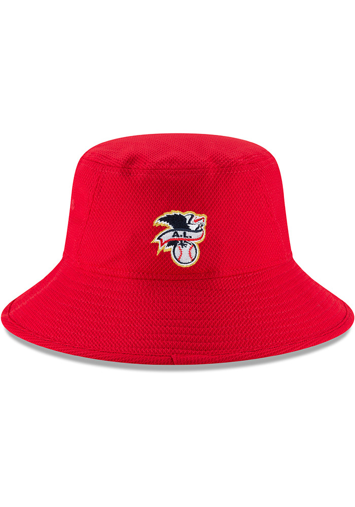 New Era Texas Rangers Red 2018 4th of July Mens Bucket Hat - Image 5