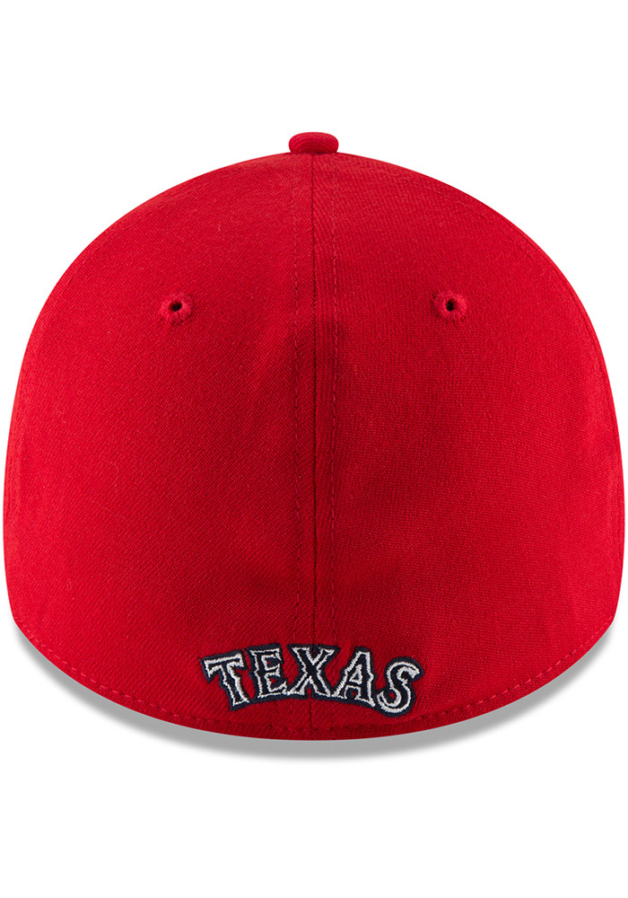 New Era Texas Rangers Mens Red 2018 4th of July 39THRITY Flex Hat - Image 5