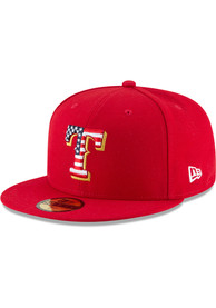 Texas Rangers New Era 2018 4th of July 59FIFTY Fitted Hat - Red