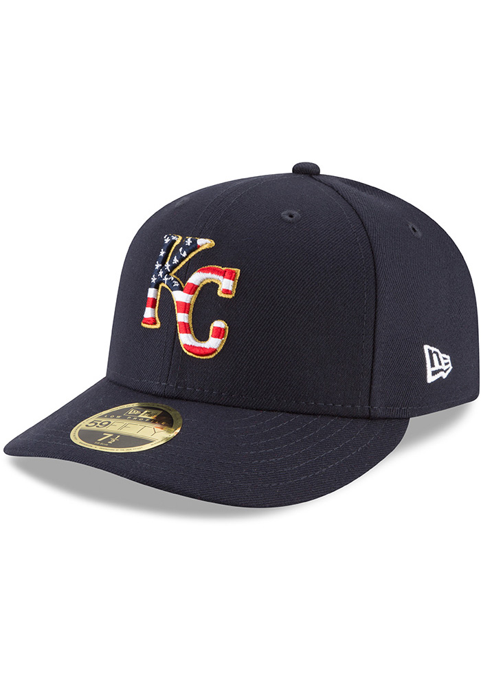 New Era Kansas City Royals Mens Navy Blue 2018 4th of July LP59FIFTY Fitted Hat - Image 1