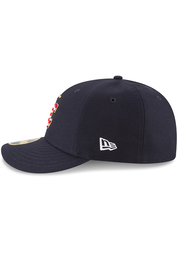 New Era Kansas City Royals Mens Navy Blue 2018 4th of July LP59FIFTY Fitted Hat - Image 4