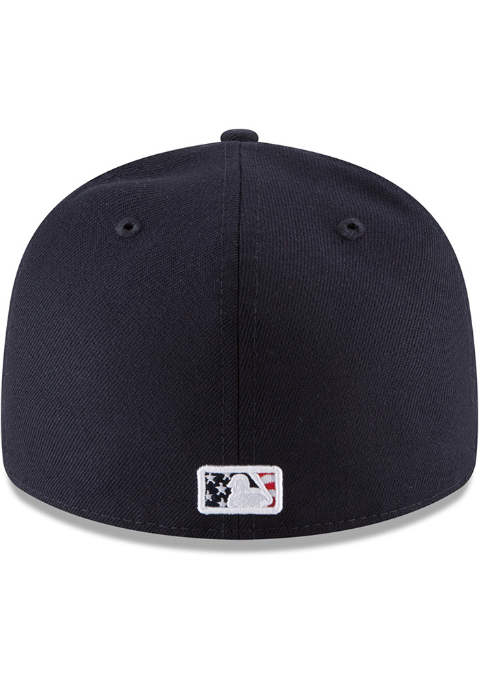 New Era Kansas City Royals Mens Navy Blue 2018 4th of July LP59FIFTY Fitted Hat - Image 5