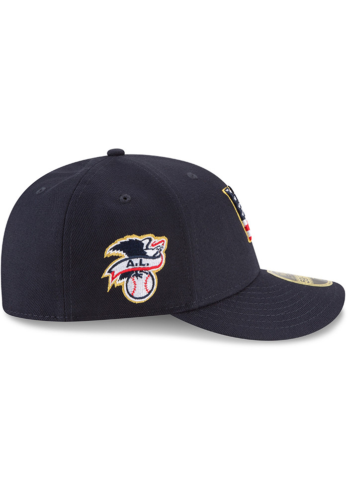 New Era Kansas City Royals Mens Navy Blue 2018 4th of July LP59FIFTY Fitted Hat - Image 6