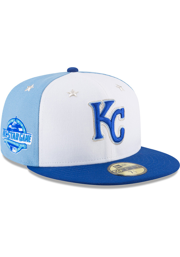 New Era Kansas City Royals Mens Blue 2018 All Star 59FIFTY Fitted Hat - Image 2