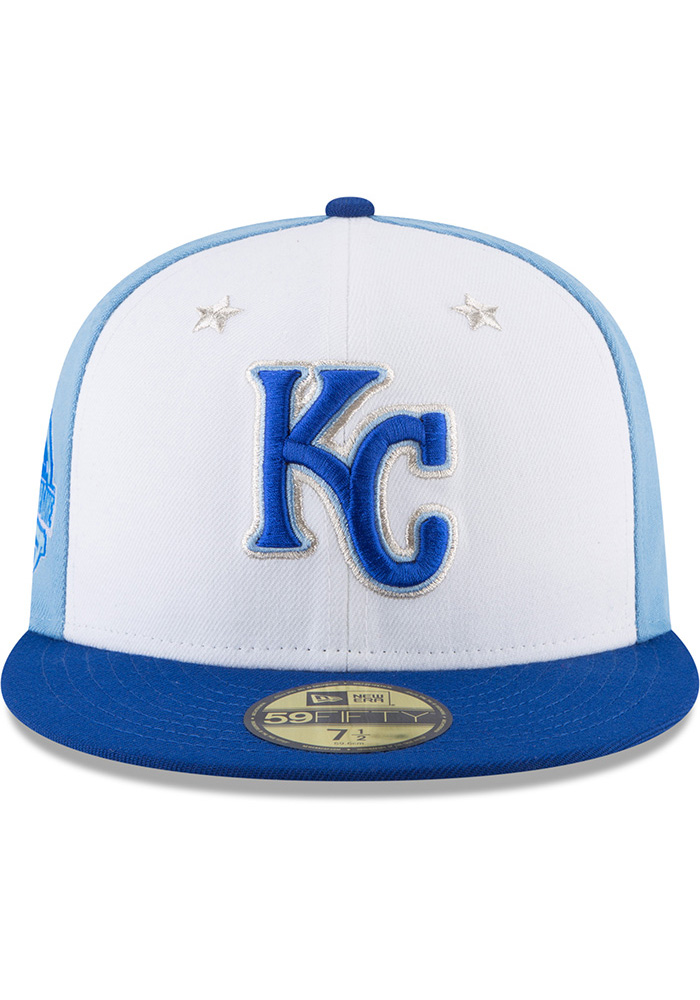 New Era Kansas City Royals Mens Blue 2018 All Star 59FIFTY Fitted Hat - Image 3