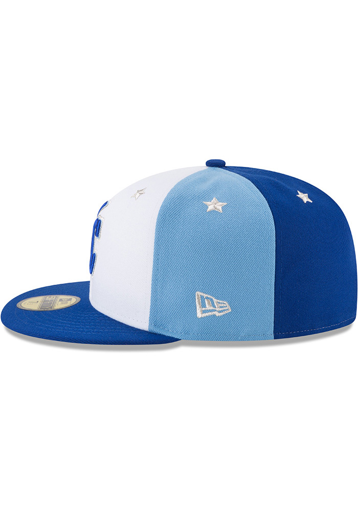 New Era Kansas City Royals Mens Blue 2018 All Star 59FIFTY Fitted Hat - Image 4