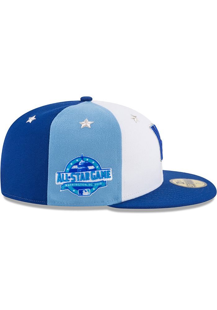New Era Kansas City Royals Mens Blue 2018 All Star 59FIFTY Fitted Hat - Image 6